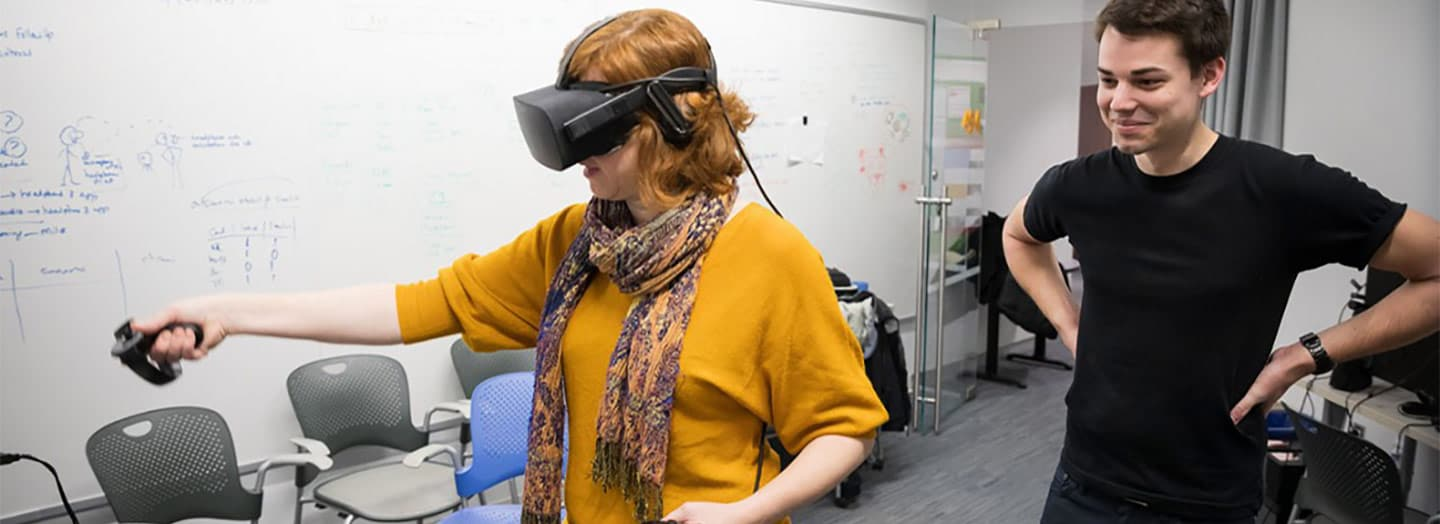 Researchers studying the use of VR in education